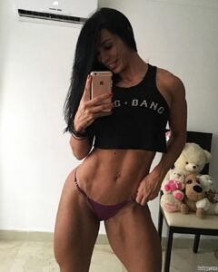 hottest lady with muscle body and muscle biceps pic from facebook
