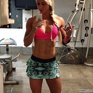 perfect female with muscular body and toned biceps pic from tumblr