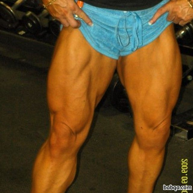 beautiful female bodybuilder with muscle body and toned legs picture from tumblr