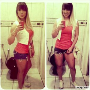 hottest female with fitness body and muscle legs post from tumblr