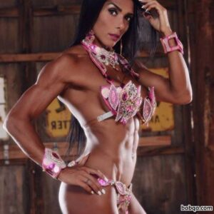 perfect female bodybuilder with muscular body and toned bottom post from flickr