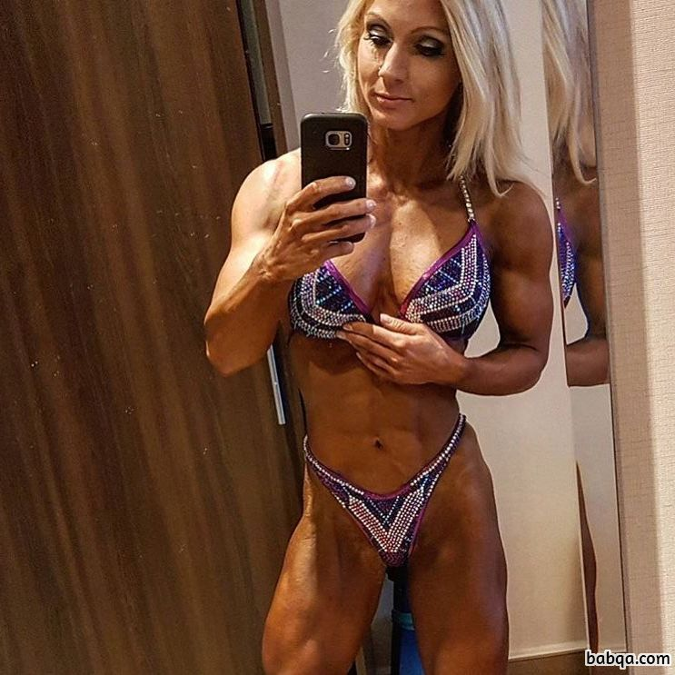 beautiful chick with strong body and muscle bottom image from facebook