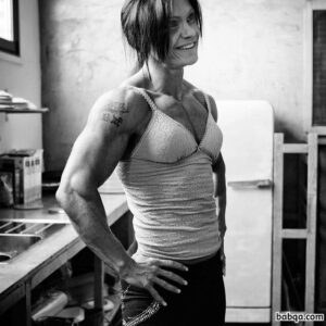 awesome chick with muscular body and muscle arms image from tumblr