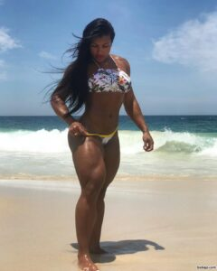 awesome female with muscle body and toned bottom image from instagram