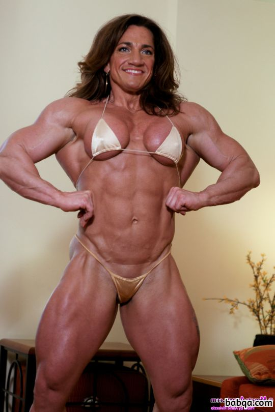 beautiful female bodybuilder with strong body and toned booty image from flickr
