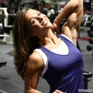 awesome female bodybuilder with muscular body and muscle booty image from instagram