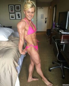 hottest girl with muscular body and muscle biceps post from instagram