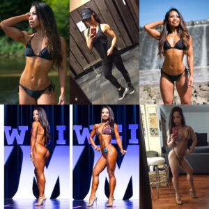hot girl with fitness body and muscle bottom photo from instagram
