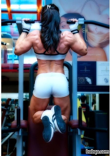 spicy female with strong body and toned biceps post from flickr