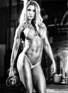 spicy female bodybuilder with muscular body and muscle arms repost from g+