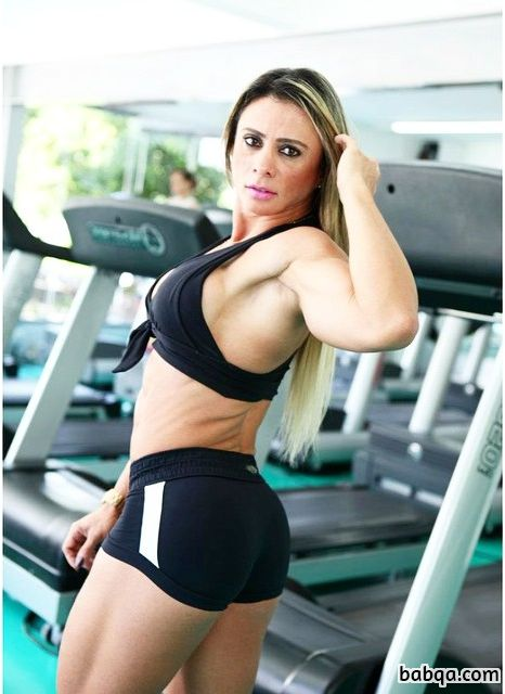 hottest female with strong body and muscle bottom picture from facebook
