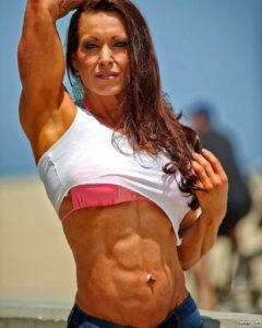 hot female bodybuilder with fitness body and toned biceps repost from g+