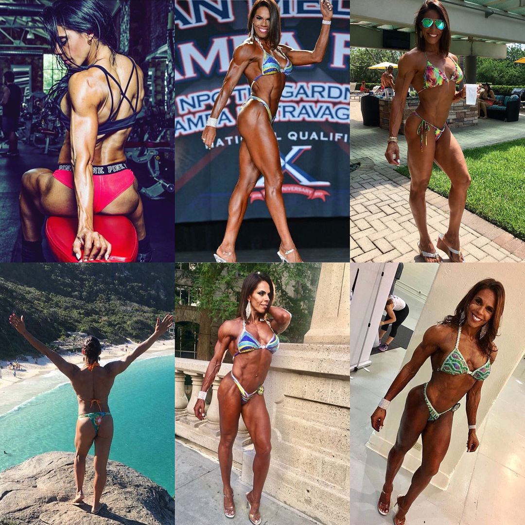 hot chick with fitness body and muscle booty post from flickr