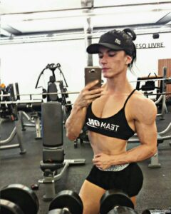 spicy female with fitness body and muscle bottom image from g+