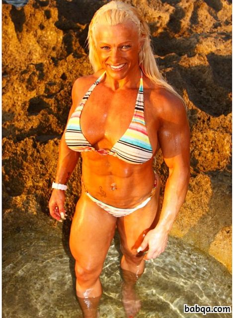 beautiful female bodybuilder with muscle body and toned biceps pic from linkedin