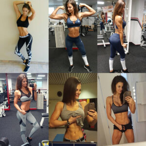spicy girl with muscle body and muscle biceps post from g+