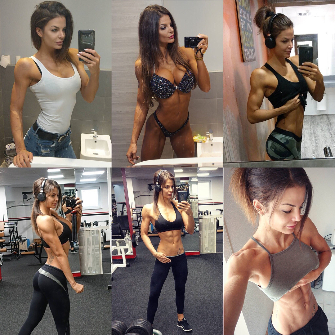 awesome chick with muscle body and toned arms pic from linkedin