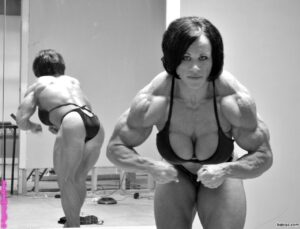 beautiful lady with muscular body and toned arms repost from linkedin