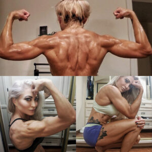 perfect female bodybuilder with muscle body and toned arms image from insta