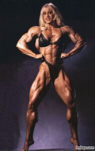 perfect female bodybuilder with muscle body and toned bottom image from linkedin