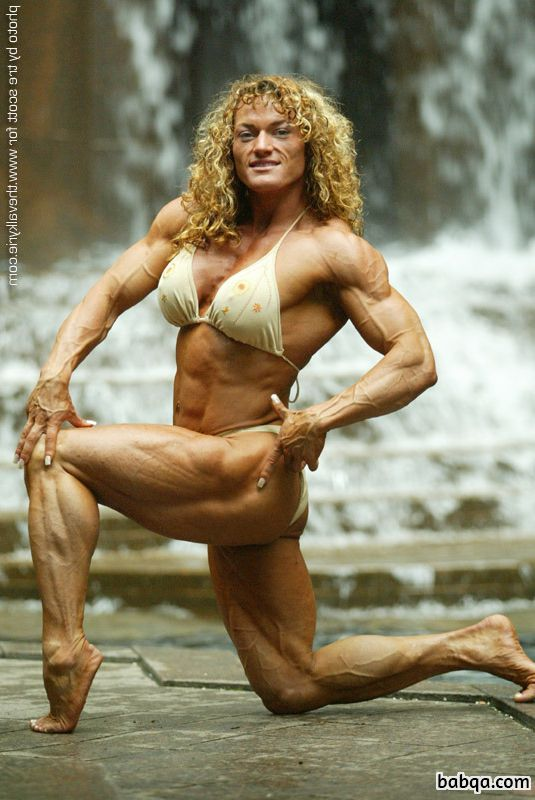 sexy female with strong body and muscle biceps post from tumblr