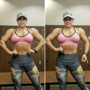 perfect lady with muscular body and muscle booty picture from reddit