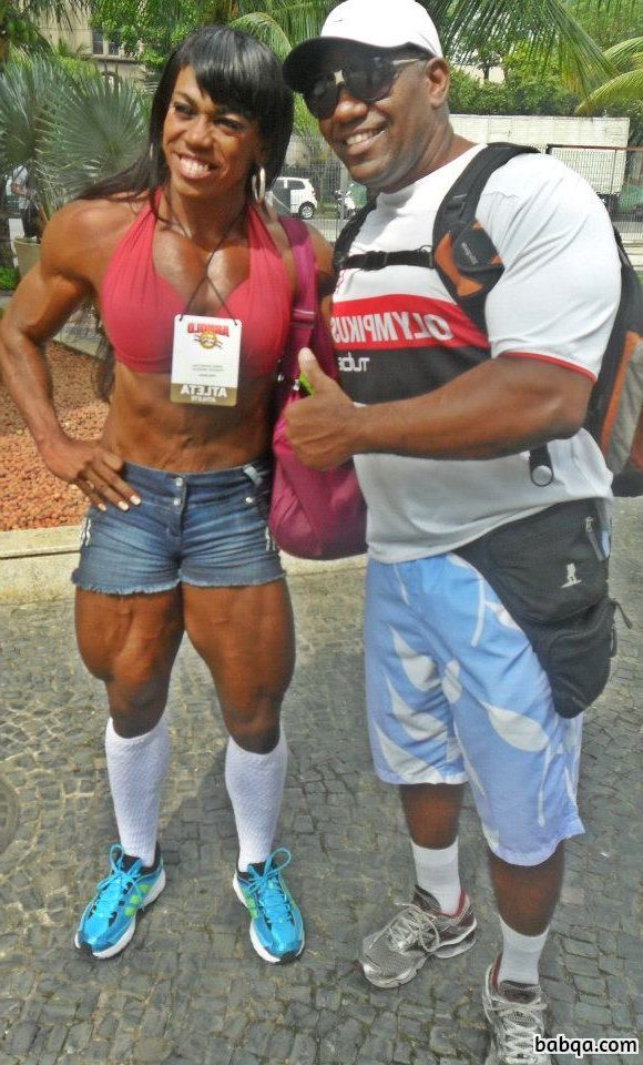 hottest chick with fitness body and muscle legs post from linkedin