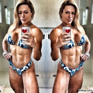 hottest female with fitness body and muscle arms pic from linkedin