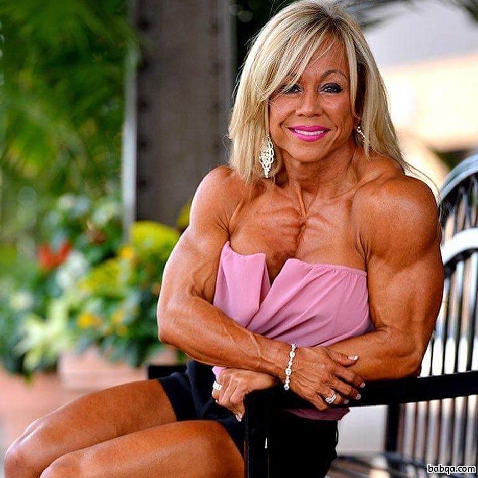 sexy babe with muscular body and toned arms photo from facebook
