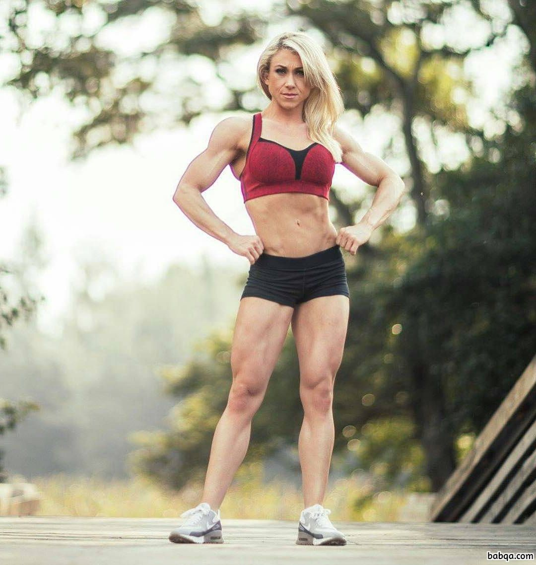 hot female bodybuilder with fitness body and muscle ass picture from linkedin