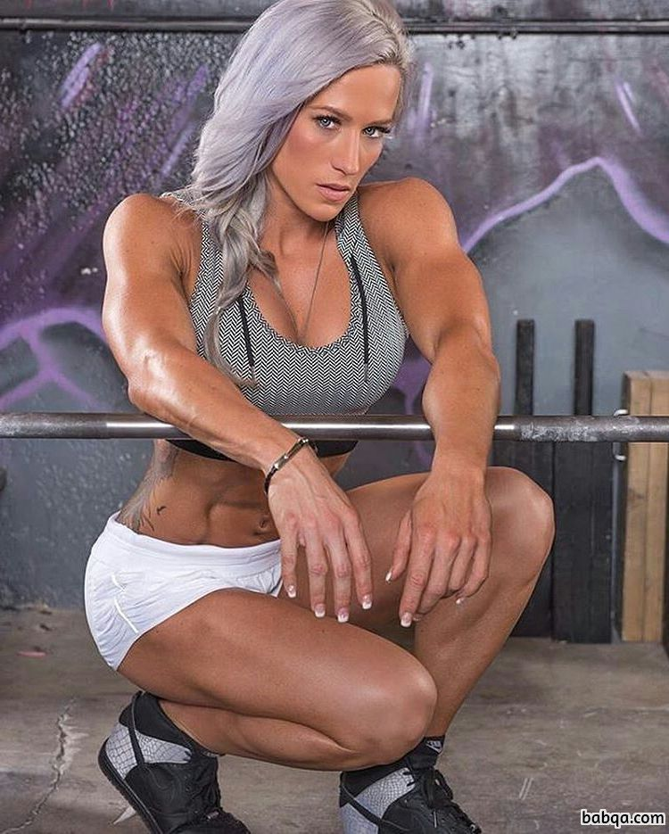 hottest lady with muscle body and toned ass pic from facebook