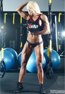 hot girl with strong body and muscle arms picture from reddit