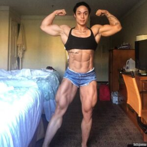 spicy female bodybuilder with strong body and toned biceps image from flickr