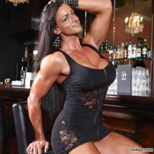 awesome lady with fitness body and muscle biceps repost from linkedin