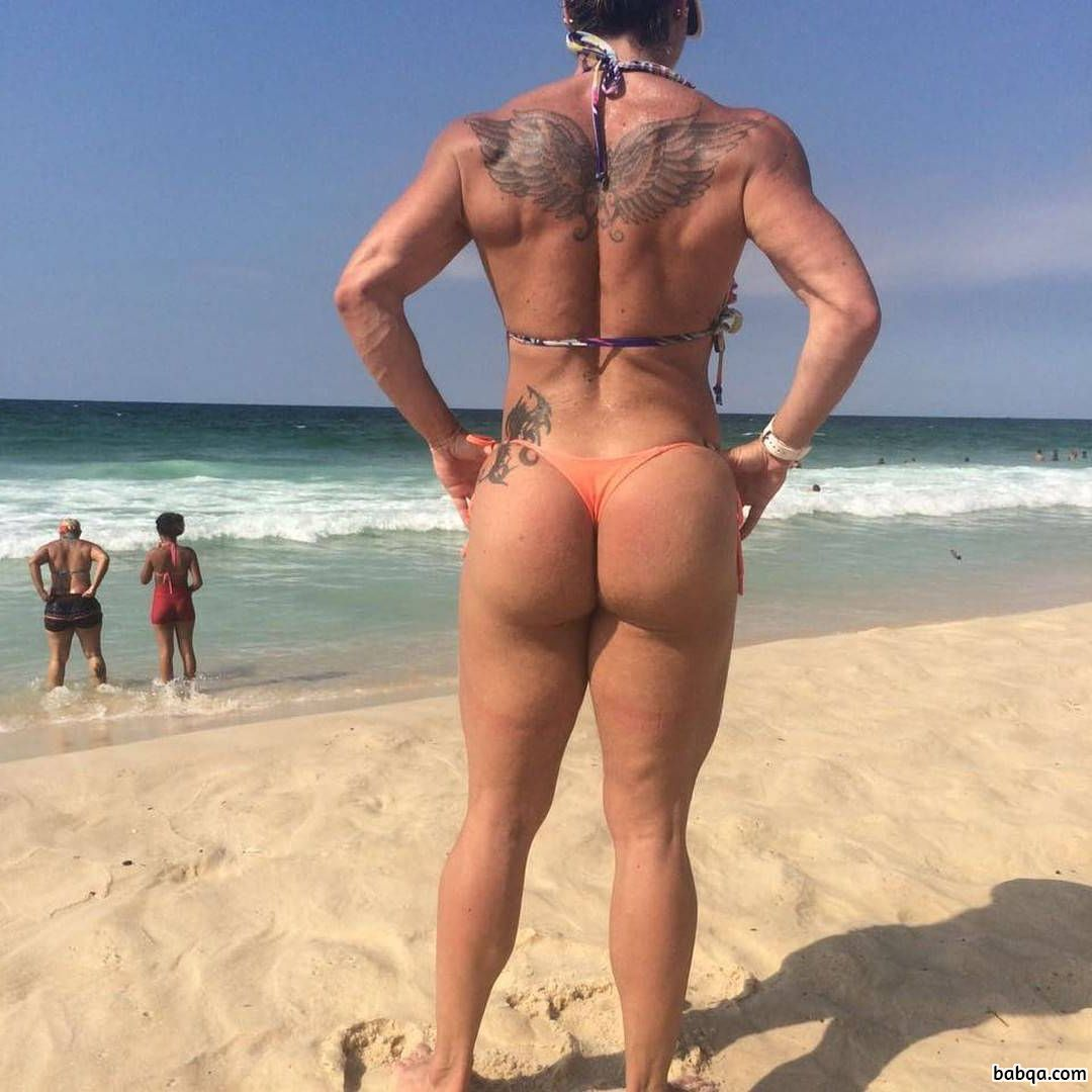 beautiful babe with muscular body and toned booty photo from reddit
