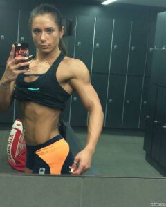 awesome female with strong body and muscle biceps repost from linkedin