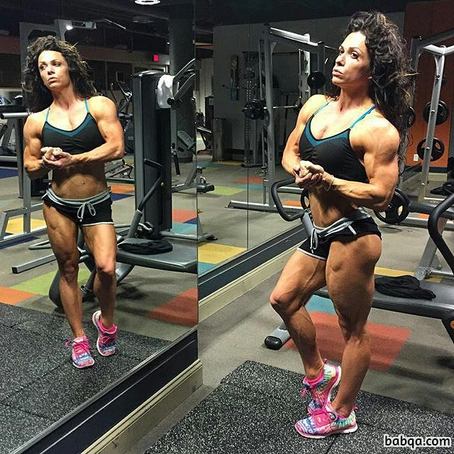 sexy woman with strong body and toned biceps image from tumblr