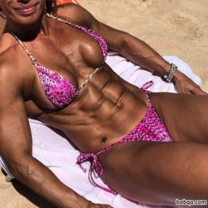 hottest woman with fitness body and muscle legs pic from g+