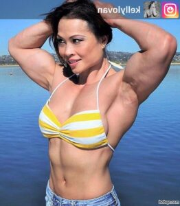 spicy female bodybuilder with muscular body and toned ass image from reddit