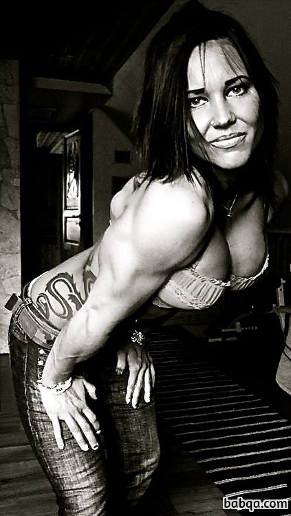 perfect female bodybuilder with muscle body and muscle arms pic from linkedin