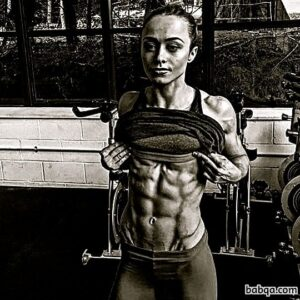 cute female bodybuilder with muscular body and toned booty repost from linkedin