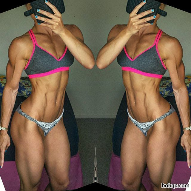 perfect babe with strong body and muscle biceps pic from flickr