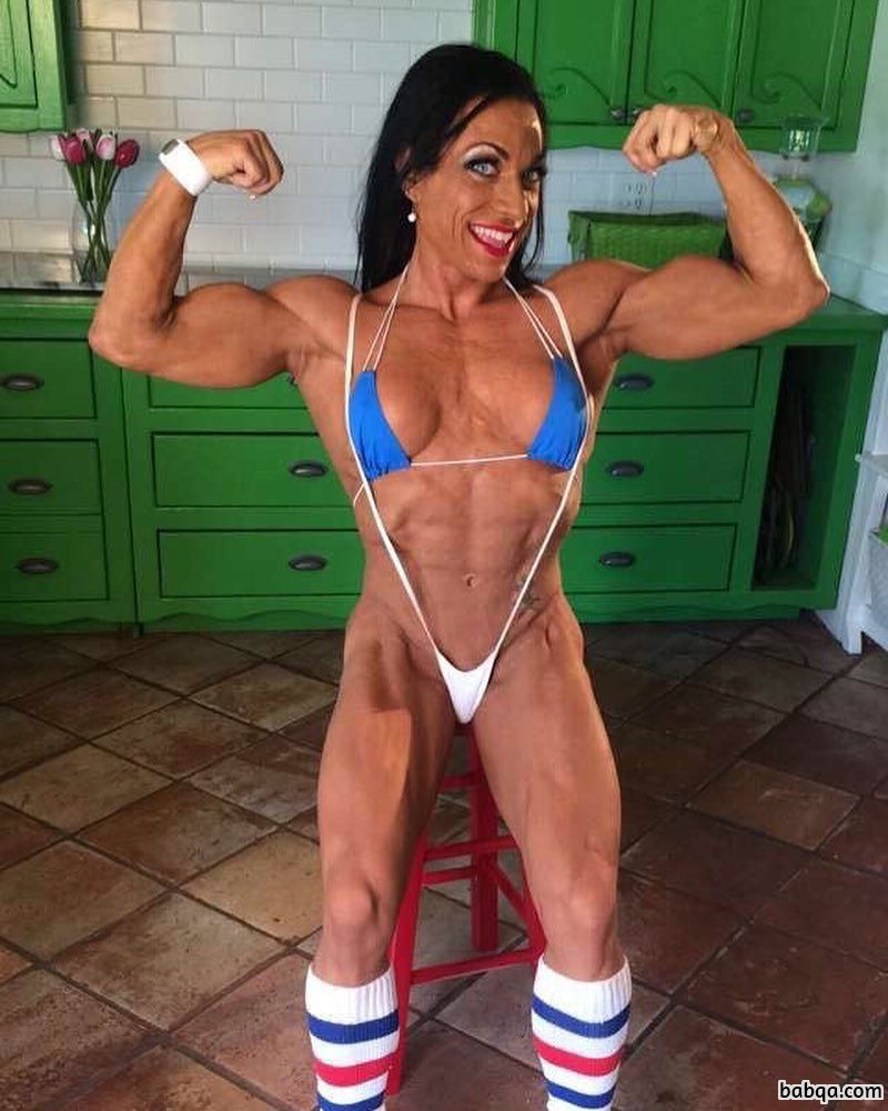 spicy female bodybuilder with muscle body and muscle bottom image from flickr