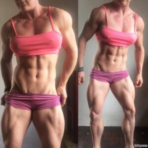 beautiful lady with muscular body and toned biceps repost from facebook