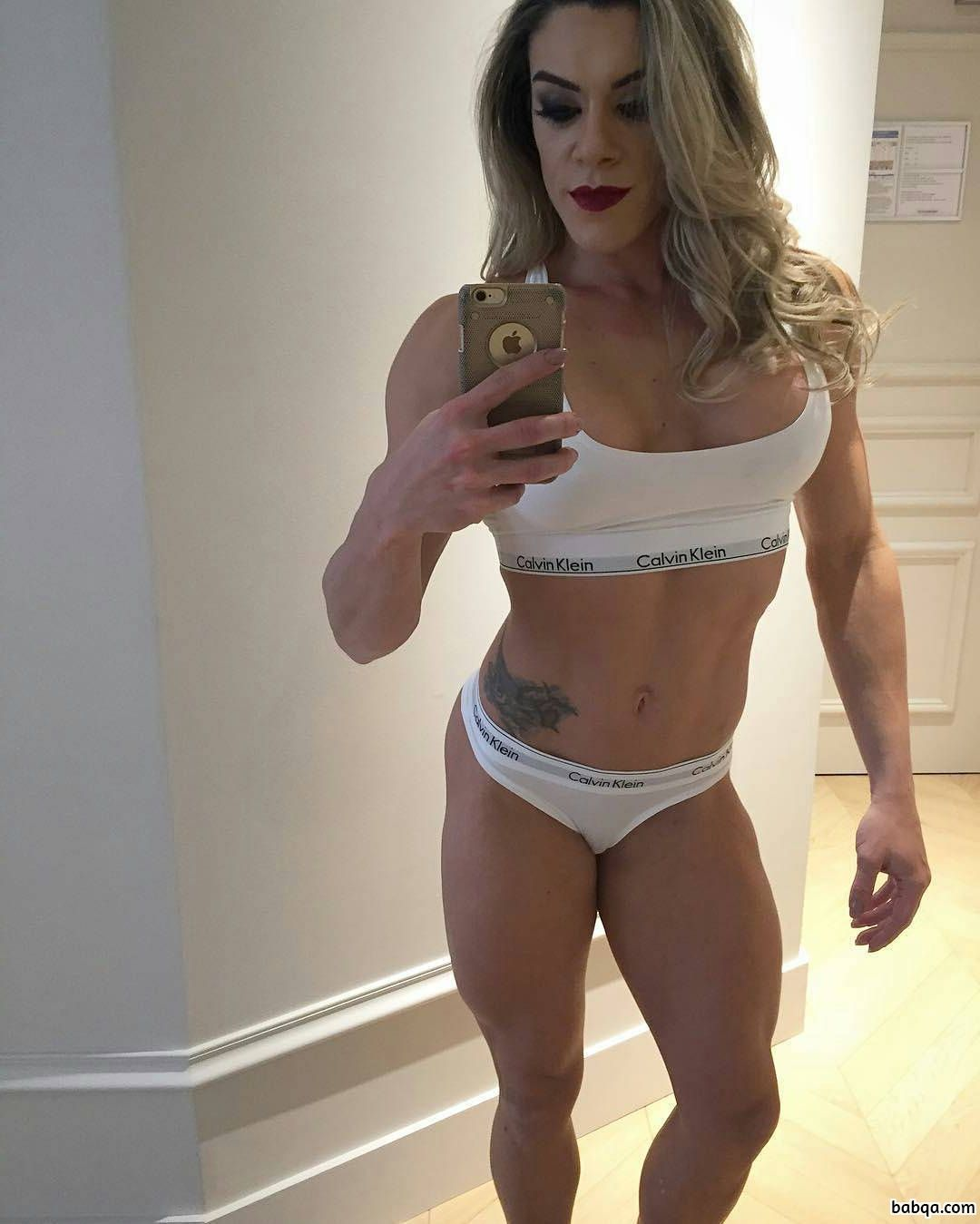 perfect girl with fitness body and muscle ass photo from facebook