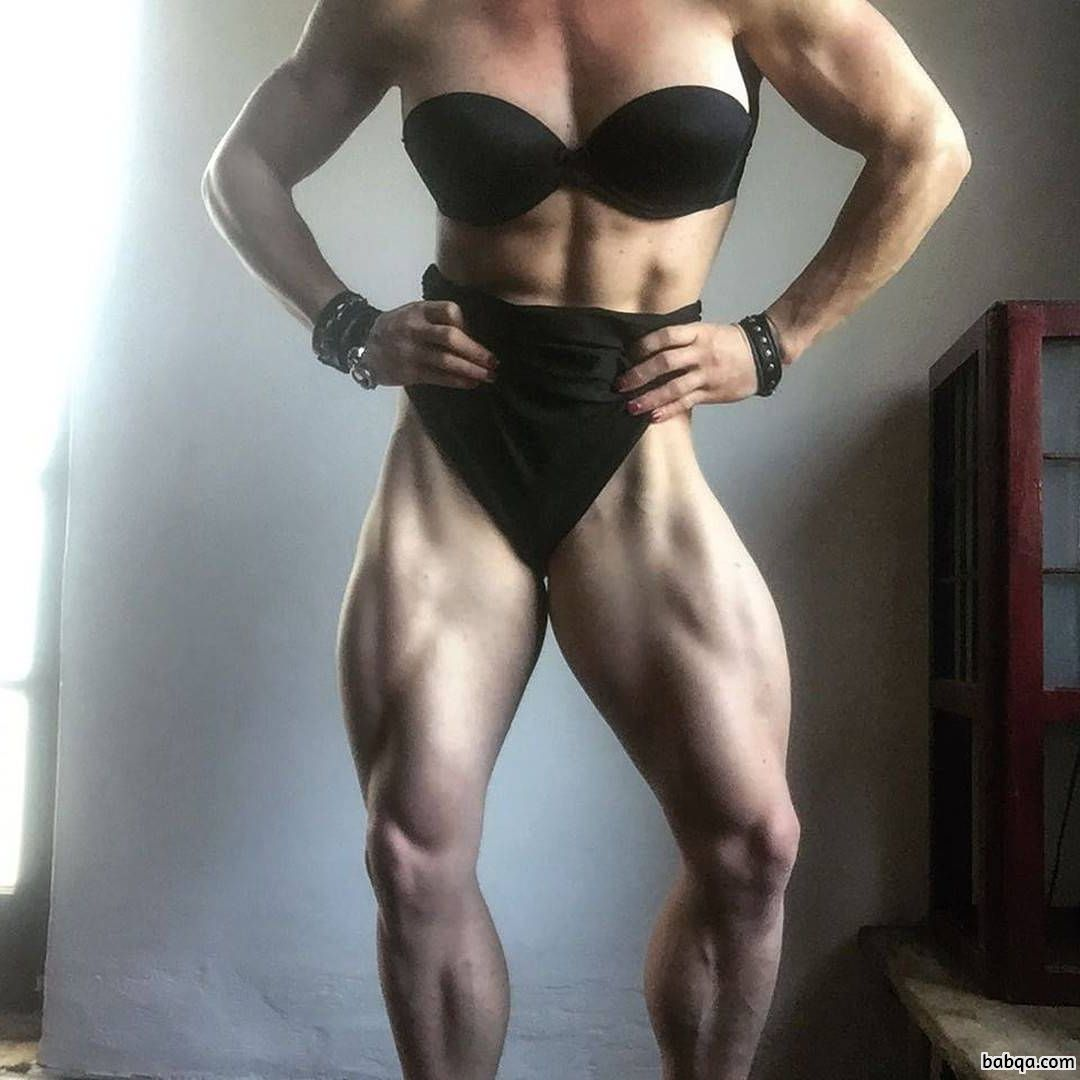 perfect female bodybuilder with fitness body and toned ass photo from insta