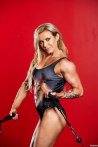 perfect woman with strong body and toned biceps pic from g+