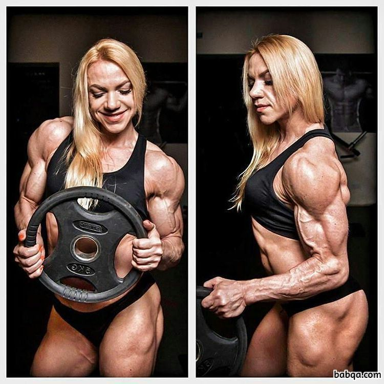 sexy female bodybuilder with muscular body and toned legs image from flickr
