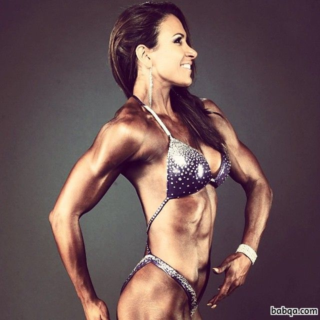 awesome woman with strong body and muscle bottom repost from insta