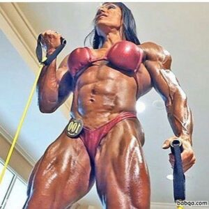 spicy girl with strong body and muscle biceps picture from instagram